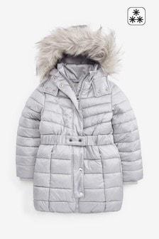 Непромокаемая дутая куртка с поясом  (3-16 лет)