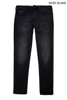 River Island Black Skinny Serento Washed Jeans