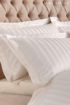 Set of 2 Laura Ashley Cream Shalford 400 Thread Count Pillowcases