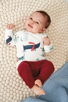 סט סווטשירט ומכנסי טרנינג (0 חודשים עד גיל 2)