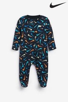 פיג'מה דגם Swooshfetti לתינוקות של Nike
