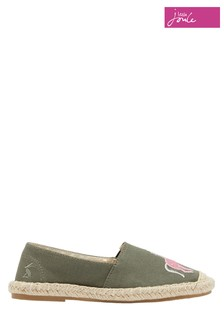 Joules JNR Shelbury Espadrilles With Embroidered Details