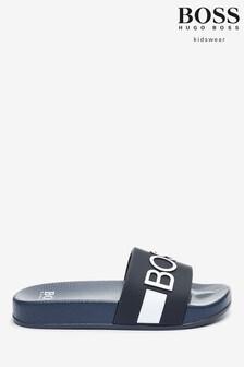 BOSS Slider mit Logo, Marineblau