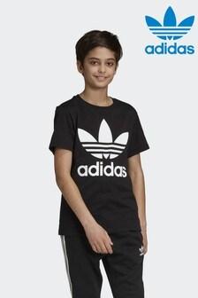 Черная футболка с трилистником adidas Originals
