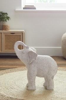 Grey Extra Large Geo Elephant Ornament