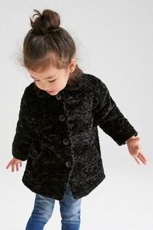 Куртка на пуговицах из искусственного меха  (3 мес.-7 лет)