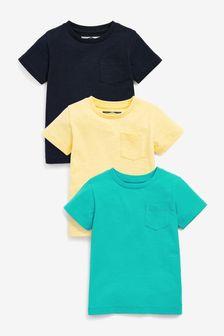 3 Effen biologisch katoenen T-shirts (3 mnd-7 jr)