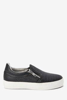Скейтерские туфли с эффектом крокодиловой кожи (Подростки)