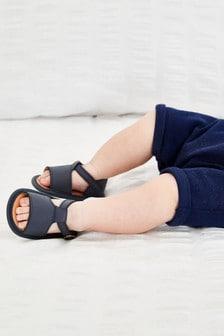 Leather T-Bar Pram Sandals (0-24mths)