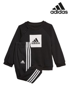 adidas Infant Black Crew Sweater And Jogger Set