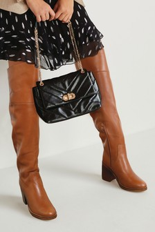 Signature Soft Leather Over The Knee Boots