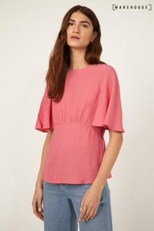 Warehouse Pink Angel Sleeve Top