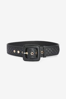 Wide Quilted Belt