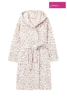 Joules Grey Rita Fluffy Dressing Gown
