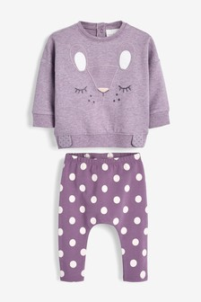 Character Sweat Top And Leggings Set (0mths-2yrs)