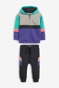 Colourblock Hoody/Joggers Set (3mths-7yrs)