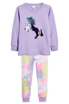 Flippy Sequin Unicorn Snuggle Pyjamas (3-16yrs)