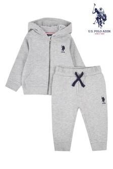 U.S. Polo Assn. Sweat Hoodie and Jogger Set