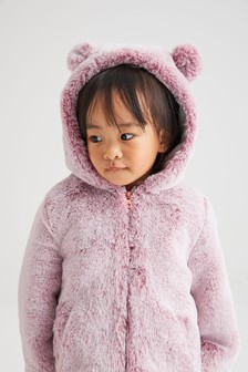 Veste en fausse fourrure motif personnage (12 mois - 7 ans)