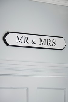 Mr & Mrs Wall Plaque