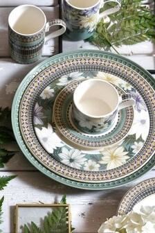 Set of 4 Portmeirion White Atrium Floral Side Plates