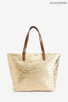 Золотиста сумка-тоут с рисунком Accessorize Lakshmi