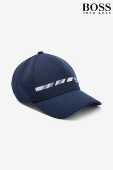 BOSS藍色條紋標誌棒球帽