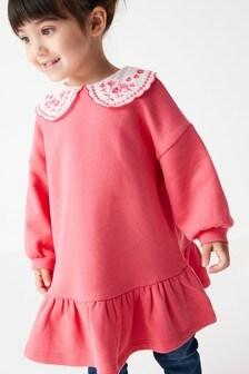 فستان رياضي بياقة (3 شهور -7 سنوات)