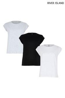 River Island Black T-Shirts Three Pack