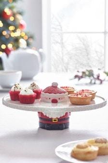 Santa And Friends Cake Stand Serveware