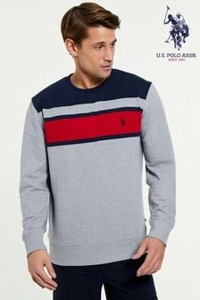 U.S. Polo Assn. Engineered拼色圓領運動衫