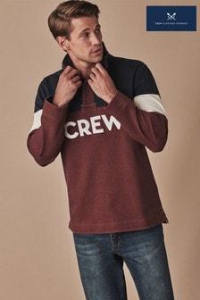 Crew Clothing Company ブルー アップリケ Padstow スウェットシャツ