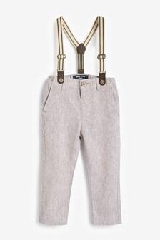 Pantalon habillé à bretelles (3 mois - 7 ans)