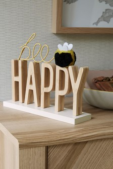 Bee Happy Word Block
