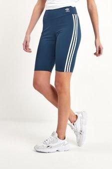 מכנסיים קצרים לרכיבה עם 3 פסים בצבע כחול כהה מסדרת Originals של Adidas