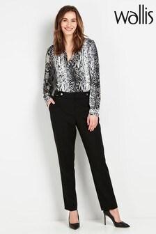 מכנסיים שחורים עם אמרה בגזרת פטיט של Wallis