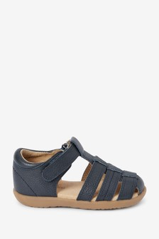 Little Luxe™ Leather Fisherman Sandals