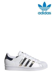 حذاء رياضي أبيضSuperstar منadidas Originals