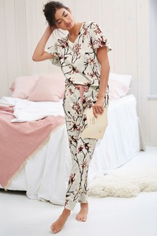 Cotton Ruffle Sleeve Pyjamas