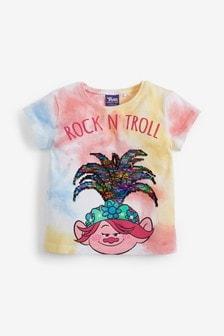 T-Shirt mit Troll aus Pailletten (3Monate bis 7Jahre)
