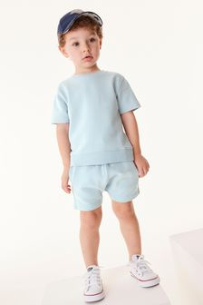 Plain Sweat T-Shirt And Shorts Set (3mths-7yrs)