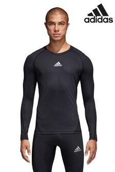 Спортивная темно-синяя футболкаadidasAlphaskin