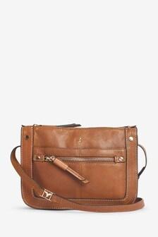 Leather Hummingbird Detail Cross-Body Bag