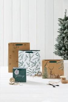 Set of 4 Christmas Gift Bags