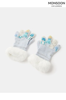 Monsoon Blue Frosted Princess Novelty Gloves