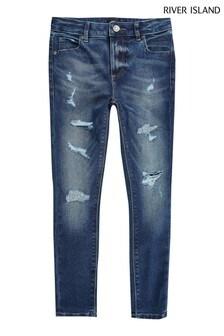 River Island Dark Blue Older Boys Ollie Jeans