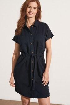 TENCEL™ Utility Tie Waist Dress