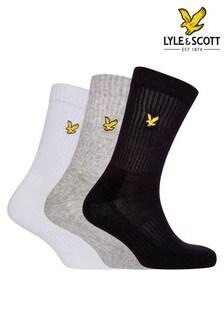 Lot de trois paires de chaussettes de sport Lyle & Scott multicolores
