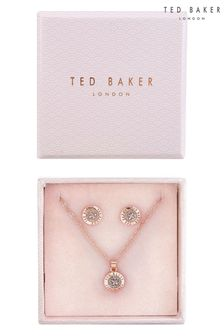Ted Baker Rose Gold Glitter Emillia Mini Button Gift Set
