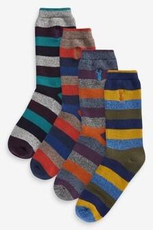 Stripe Heavyweight Socks Four Pack